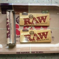 Raw Rolling Tray Bundle with Raw 110mm Roller & Raw King Size Rolling Papers