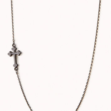 Cross Charm Chain Necklace
