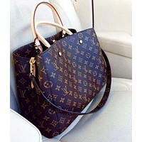 LV Louis Vuitton LV Women  Leather Tote Crossbody Shopping Bag Satchel Handbag Shoulder Bag