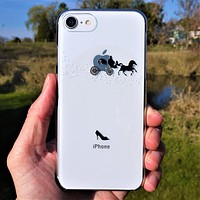 Cinderella Carriage Hard Shell Clear iPhone Case