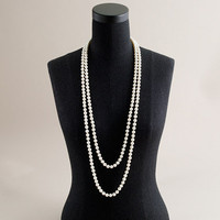 Opera-length pearl necklace