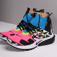 HCXX 19Aug 529 Acronym x Nike Air Presto Mid AH7832-600 Sneakers Casual Jogging Shoes