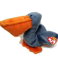 Free US Shipping, Ty Beanie Baby Scoop The Pelican Plush Toy Stuffed Animal MWMT July 1 1996 Vintage Stuffed Toy Vintage Plush Collectible