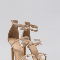 Wrapped In Straps Faux Suede Heels