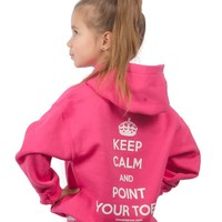 Keep Calm and Point Your Toes – Youth Pullover Hoodie