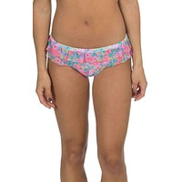 Floral Hipster Ruffle Bikini Bottom by Lauren James