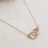 Handcuffs in Gold Necklace