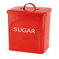 Red Kitchen Canister - Sugar