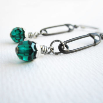 Safety Pin Earrings - Goth Punk Jewelry - Surgical Steel Hooks