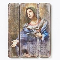 Blessed Virgin Mary Wood Wall Panel