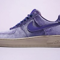 Nike Air Force 1 '07 Low Velvet Sneaker Purple849345-401