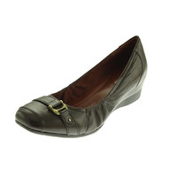 Naturalizer Womens Macey Leather Wedge Loafer Heels