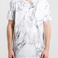 GREY MARBLE PRINT T-SHIRT - New In