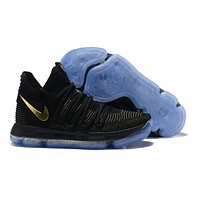 Nike Mens Kevin Durant KD 10 Black/Yellow Basketball Shoes