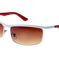 Ray Ban Active Lifestyle RB3459 Sunglasses Red/White Frame Tawny Lens