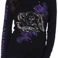 Sons Of Anarchy Girls Long Sleeve T-Shirt - Fear Reaper