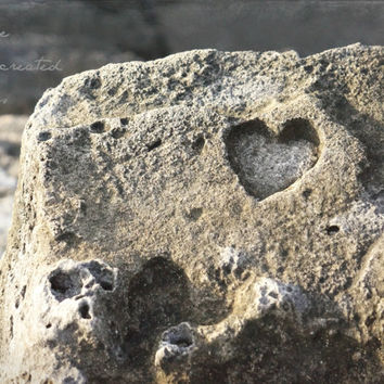 Heart Carved in Natural Stone - Nature Photography - Cueva del Indio - Love Quote Photography