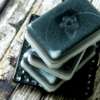 Black Canyon Musk Soap . Homemade Soap for Men . Shea Butter Olive Oil Soap . Valentines Day Gift For Him . Soap Gift Ideas