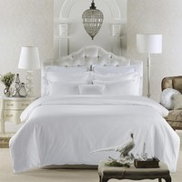 Egyptian Cotton Pure White Luxury High Street Hotel Bedding Sets.
