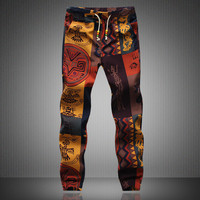 Mens Joggers 2016 Brand Male Trousers Men Linen Pants Casual Pants Sweatpants Jogger