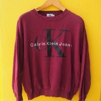 DCCKSP2 Calvin Klein' Printed Womens Casual Long Sleeve Pullovers Sweaters