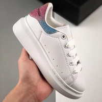 Alexander McQueen White Multi Toddler Kid Shoes Child Sneakers