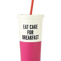 Kate Spade Eat Cake For Breakfast Insulated Tumbler Pink ONE