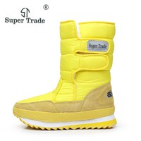 Winter Thickening Women'S Shoes Snow Boots Thermal Shoes Women'S Boots Slip-Resistant Waterproof Boots Warm Heels Shoes