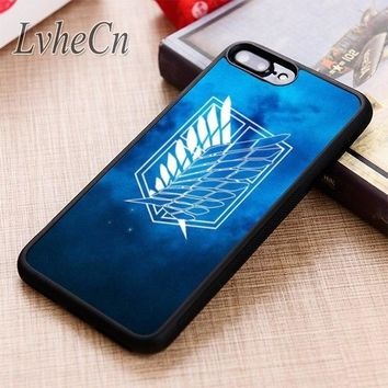 Cool Attack on Titan LvheCn  SYMBOL phone Case cover For iPhone 6 6S 7 8 X XR XS max 5 5S SE Samsung Galaxy S5 S6 S7 edge S8 S9 Plus AT_90_11