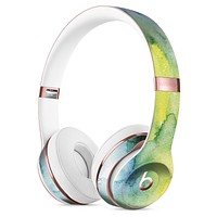 Green 211 Absorbed Watercolor Texture Full-Body Skin Kit for the Beats by Dre Solo 3 Wireless Headphones