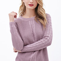 Cable Knit Waffle Sweater
