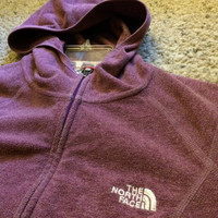 Sale!! Vintage The North Face purple hooded windbreaker TNF jacket size womens Large Free US Shipping