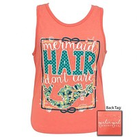 Girlie Girl Originals Preppy Mermaid Hair Don't Care Beach Tank Top