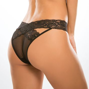 Sexy Crotchless Transparent Lace Panty Allure Desire