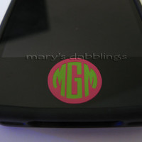iPhone home button decal monogram iPad iPod