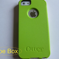 Otterbox iphone 5/5s case, case cover iphone 5/5s otterbox ,Iphone 5s case,iphone 5 cover, Lime green commuter otterbox