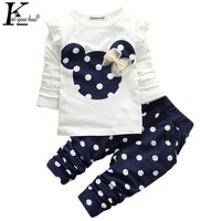 KEAIYOUHUO Baby Girl Clothes Autumn Children Clothing Sets T-shirt+Pants Toddler Girl Clothes Sets Long-Sleeve Kids Sport Suit