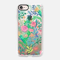 Messy Rose Bouquet on transparent iPhone 7 Case by Micklyn Le Feuvre | Casetify