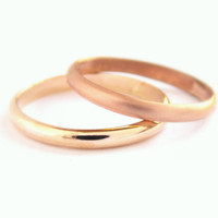Simple Gold-filled Domed Ring -14K gold-filled, domed ring, plain ring, gold ring, rose gold ring, wedding band, smooth band, smooth ring