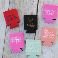 Southern Darlin' Koozies (Choose Your Color)