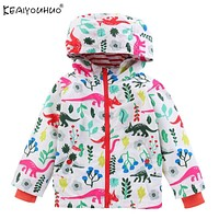KEAIYOUHUO 2017 Spring Jackets For Girls Coats Cartoon Dinosaur Baby Boys Coat Autumn Children Outerwear Kids Jackets Clothing