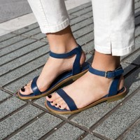 Flat Leather Sandals | Navy | & Other Stories