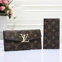 LV Women Leather Purse Wallet