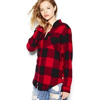 Boyfriend Flannel Plaid Shirt