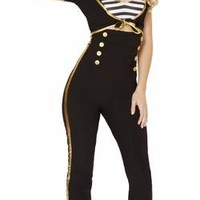 Sexy Pin Up Sailor Girl Pants Set Halloween Costume