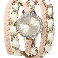 Chiffon Chain Wrap Watch | Shop Jewelry at Wet Seal