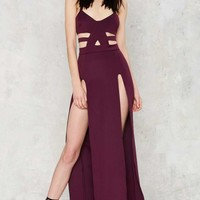 Nightwalker Shera Maxi Slit Dress