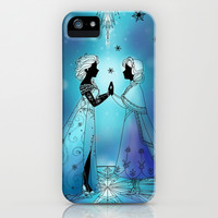 Silhouette Anna and Elsa iPhone & iPod Case by Katie Simpson