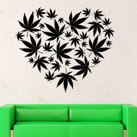 The Heart of Weed - CannaDecor - Removable Wall Art Stickers