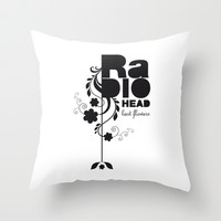 Last flowers Song - Radiohead - black version Throw Pillow by LilaVert